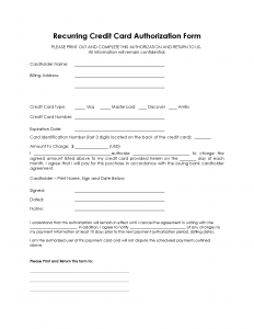 PNG version recurring authorization for payment form