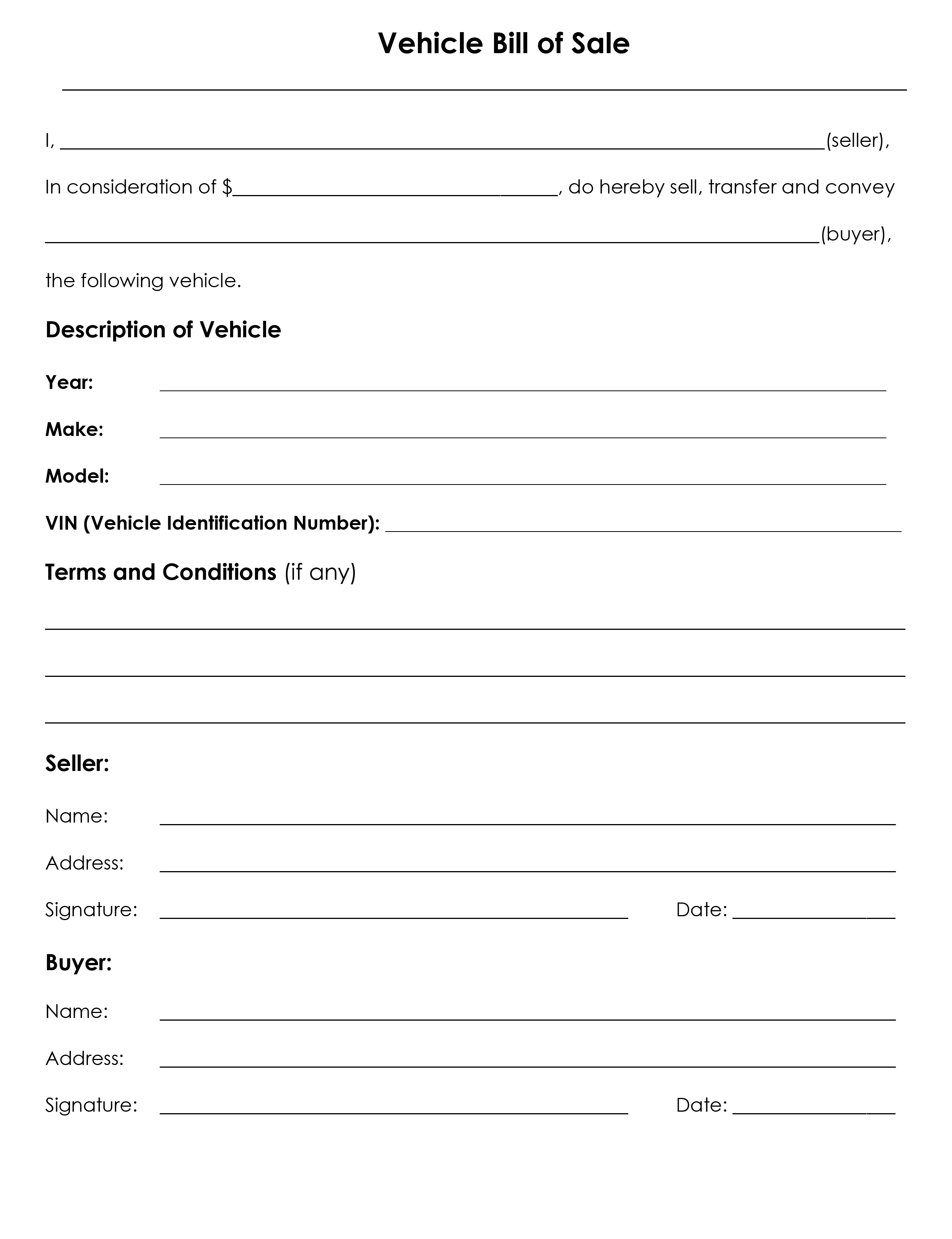 Bill Of Sale Form from www.freeauthorizationforms.com